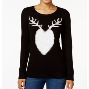 Style & Co. Women's Sweater Reindeer Graphic